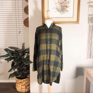 H&M Plaid Shirt Dress 🍂